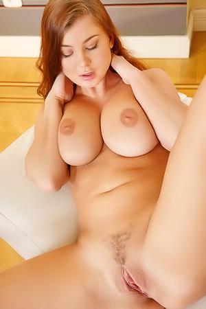 Lucy Li showing her round balls