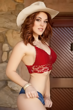 Glam cowgirl Molly Stewart