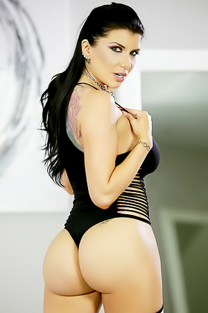 Romi Rain with round sporty butt
