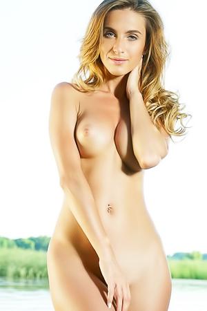 Cara Mell - naked by the lake