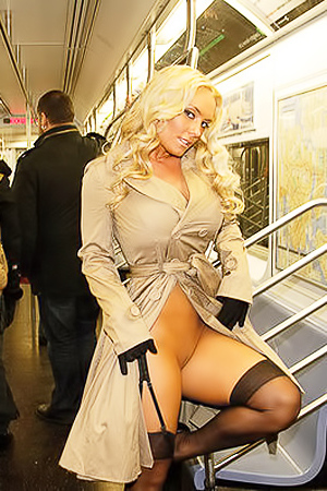 Coco Austin stripping in public places