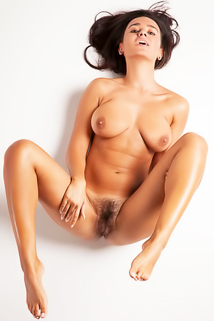 Tanned and hairy beauty Sanita