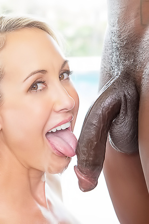 Brandi Love is sucking a big black dick