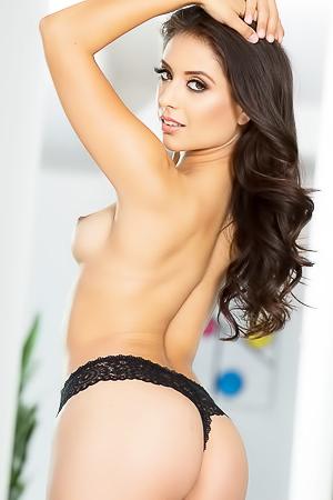 Perfect brunette in lingerie