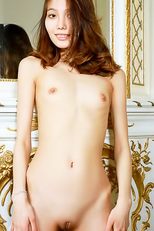 Elegant asian brunette Anna Aki