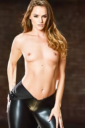 Tori Black in sexy latex dress