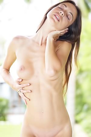 Kiki and her naked skinny body