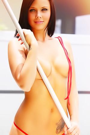 Bailey Knox - pool striptease