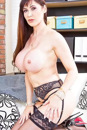 Eva Karera - busty milf in black stockings
