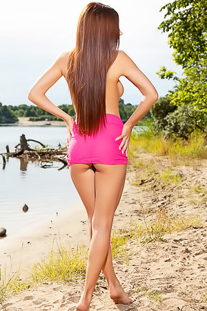 Hot teen Niemira on the beach