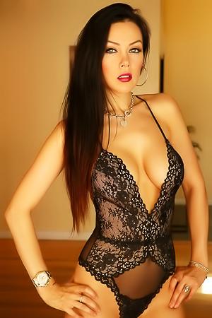 Elite stunning brunette Erika G