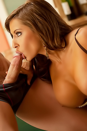 Hot Madison Ivy and her wet blowjob