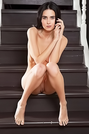 Sweet Stella - naked on the stairs