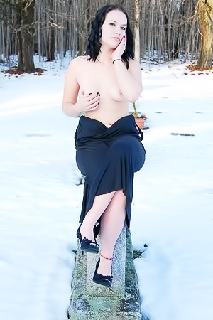 Emily Love - nude in snow