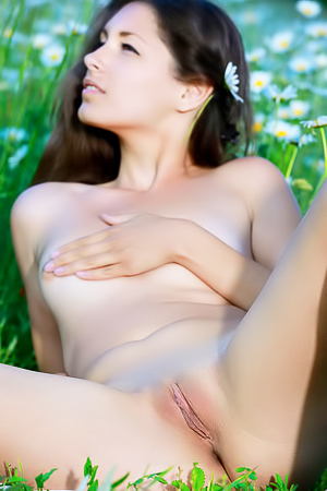 Hailey Rosella - naked in the field