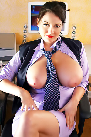 Lorna Morgan - secretary with huge boobs