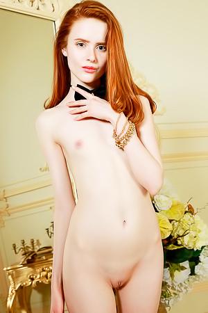 Horny redhead model Bella Milano