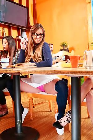 Russian Girlfriend Coffee Shop Sex