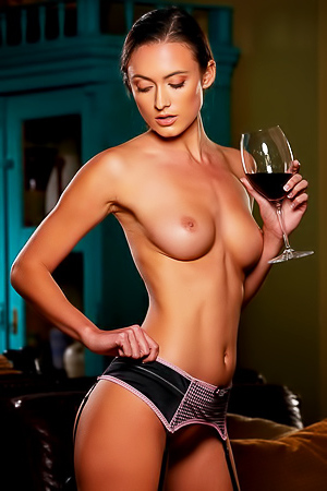 Deanna Greene - stockings and wine