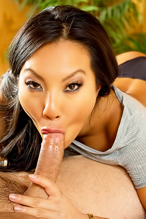 Asian pornstar Asa Akira in hardcore action