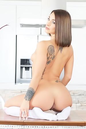 Nude elegant babe Evelin Stone