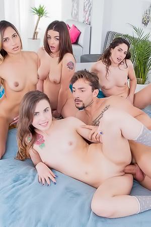 Four Pornstar Gets Fucked