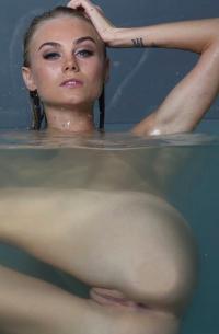 Nancy A Toying In Water